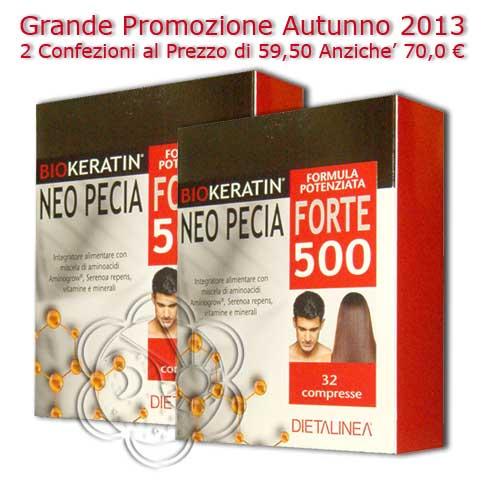 Aggiungi Biokeratin Neo Pecia Forte 500 (64 cpr) Dietalinea - Caduta Capelli 81f6b0eefd8b
